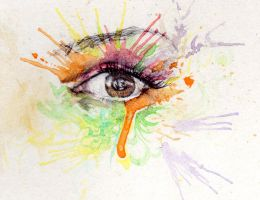 Watercolour eye 2 by Kenjiman59