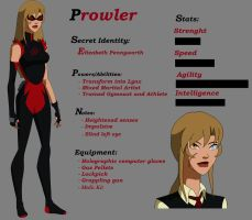 Young Justice OC: Prowler by WickedCurlyFeather