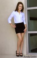 Samantha in Short Skirt by O-U-TEASE
