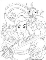 Mulan by aimeekitty