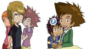Digimon: Couples of love XD by Shigerugal