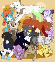 Fursona Pile up by Searii