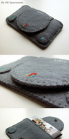PSone felt case - Dark Grey by DRSpaceman