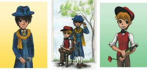 Thick as Thieves Triptych by sweet-suzume