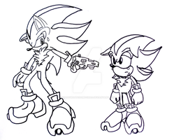 Shadow Generations Lineart by shadowhatesomochao