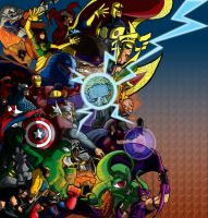 Ultimate Marvel vs. Capcom 3: Marvel side by Franckjp