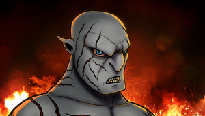 Speed Drawing - Azog from The Hobbit by ebbewaxin