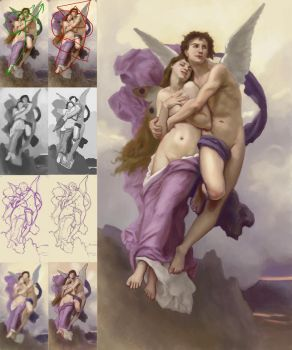 The Abduction of Psyche - by William Bougereau by schattenlos