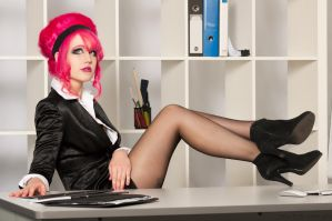 Rachael in the Office by jazzxp