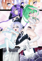 Purple, White, Green Heart Commission 2 Coloring by Planeptune