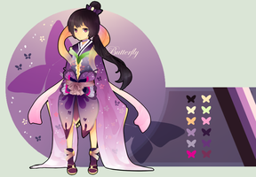 Adoptable Auction [OPEN] - Purple Butterfly by Rainry