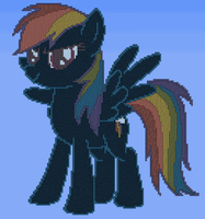Rainbow Dash in Terraria by bias1924