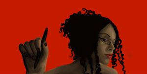 All in Red - Another Self-Portrait by dark-joelle