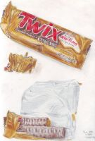 Twix Bar and Wrapper by RyanBrentHatton