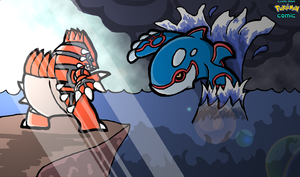Groudon VS Kyogre by RihleeX
