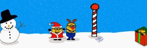 Merry Christmas Minions!! by LoveableHothead
