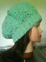 Mint cable slouchy hat by MinaThomas