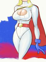 Power Girl by scamble