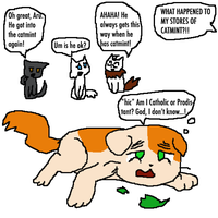 Hetalia and Warriors: catmint by Artdirector123