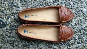 Nadia's Faux Alligator Loafers + Exposed Aggregate by peerlesspenny
