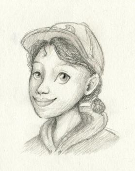Clementine pencil by Om-nom-nomnivore