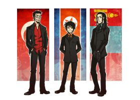APH - Tuxedo Trio by Le-Black-Sheep