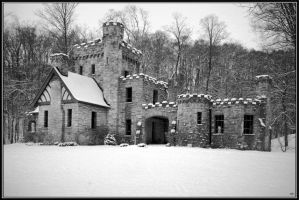 Snowfall at Squire's Castle by photosby-q