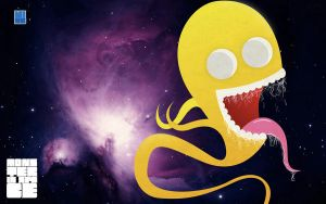 Monster in Space Wallpaper by SubDooM