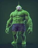 Teletubbies avenger : Dipsy, The Hulk [Final] by Khempavee