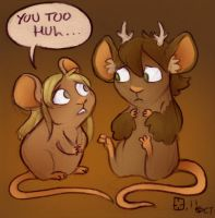 Mouselle and Abermouse by StressedJenny