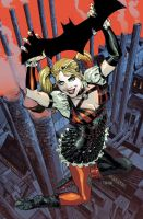 Batman: Arkham Knight Cover #2 feat. Harley Quinn by urban-barbarian