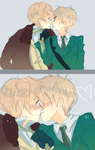 APH : US+UK SNOGGING by Kite-Mitiko
