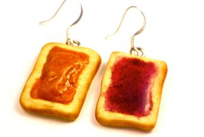 Polymer Clay PBJ Earrings by TooGoodToEat