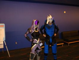 Tali and Garrus Cosplay by Sinta54