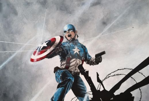 Captain America by DESERTFIELD