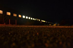 The Ghan At Night by Warbear777