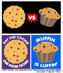 Cookie VS Muffin T-shirts by kevinbolk