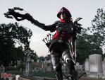 Demon Hunter Cosplay - Prowling the Cemetery 1 by bgzstudios