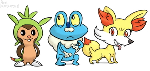Pokemon X and Y: Starter Pokemon by Flashpole