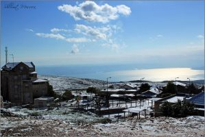 Snow on Tsfat 3 by ShlomitMessica
