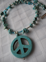 Turquoise Peace Necklace by sampdesigns