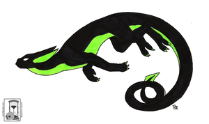 Black and Green by MidnightCootie