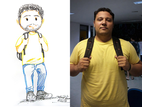 Caricature: Backpack dude (WITH REF PIC) by Tatmione
