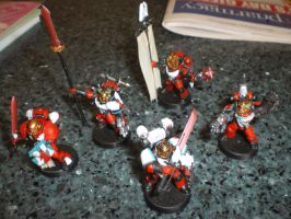 Blood Angels Honour Guard by tethesis
