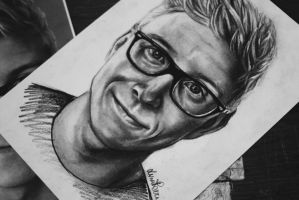 Tyler Oakley by Bluecknight