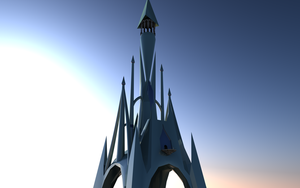 Crystal Kingdom Castle WIP-2 by Lextsy
