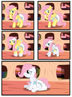 Fluttershy Age Regression by Hourglass-Sands