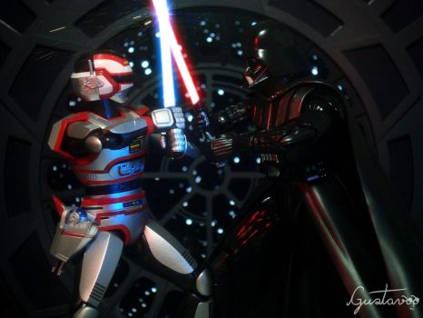 Jaspion VS. Darth Vader by GustavoSD
