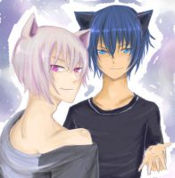 Ikuto and Tomoe by TheBlackHowl