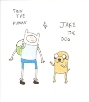 Finn and Jake Sketch by G-SLAT